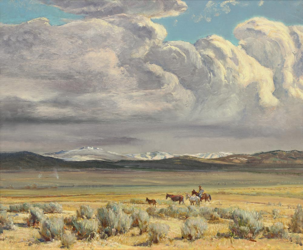 Berninghaus-Oscar-E---Truchas-Peaks-(Taos-Valley)--1949-unframed
