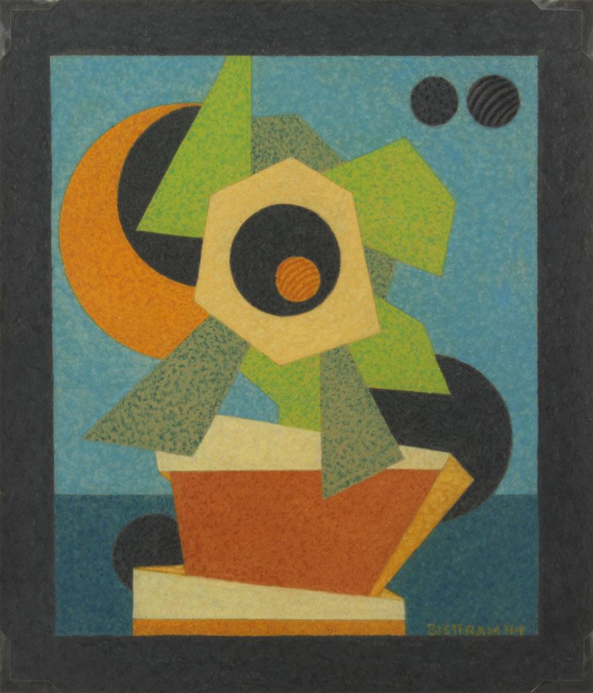 Bisttram-Emil---Abstract-Flower-1944-unframed