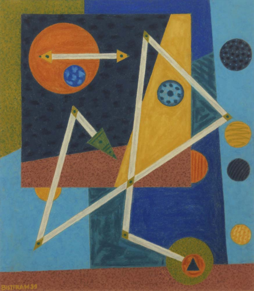 Bisttram Emil - Abstract with Arrows unframed