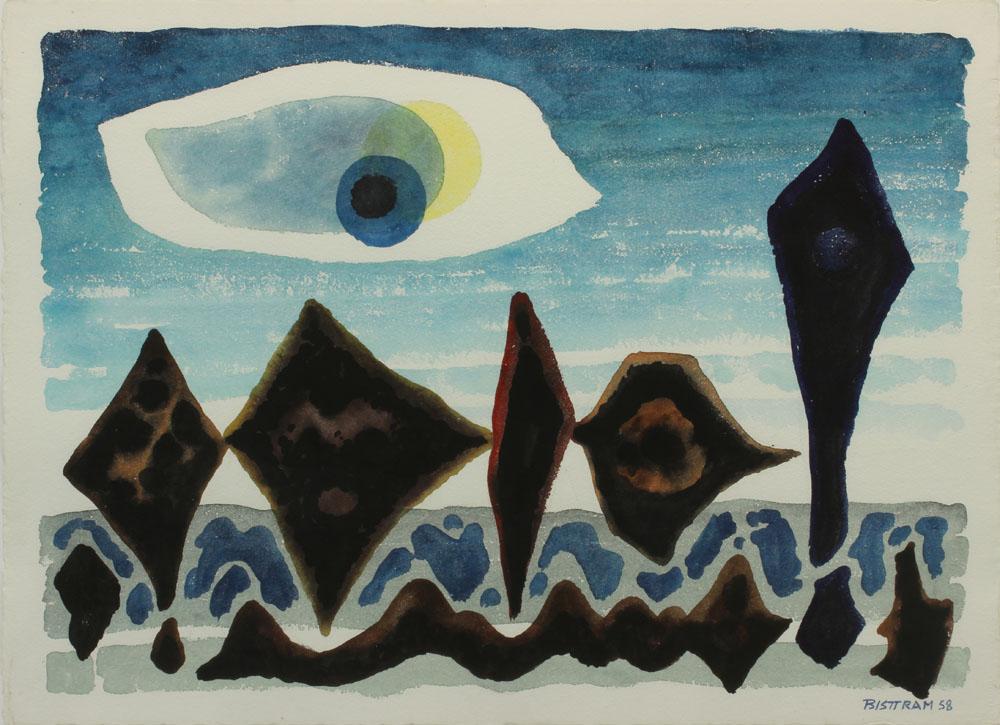 Bisttram Emil - Dance of the Sea Urchins unframed
