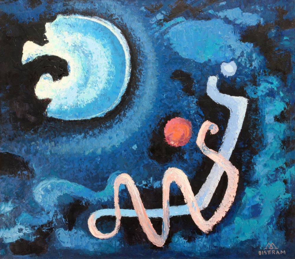Bisttram-Emil---Moon-Magic-1960-unframed