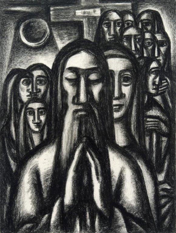 Bisttram-Emil---Praying-Man-unframed-edit