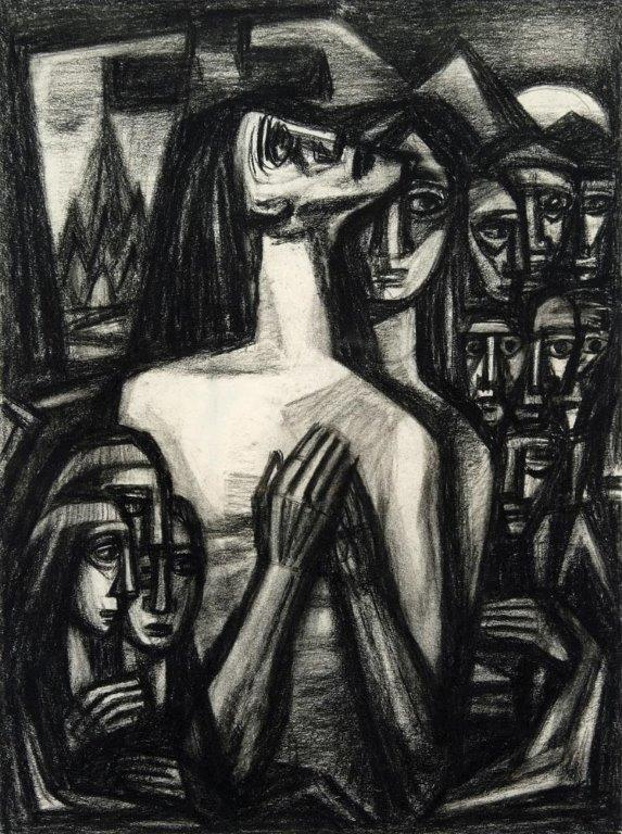 Bisttram-Emil---Praying-Woman-unframed-edit