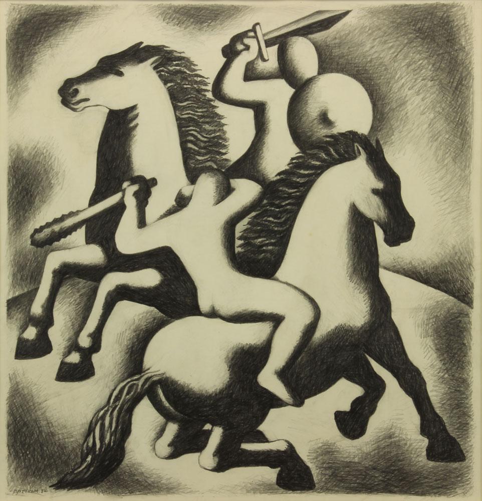 Bisttram-Emil---The-Combat-1932-unframed
