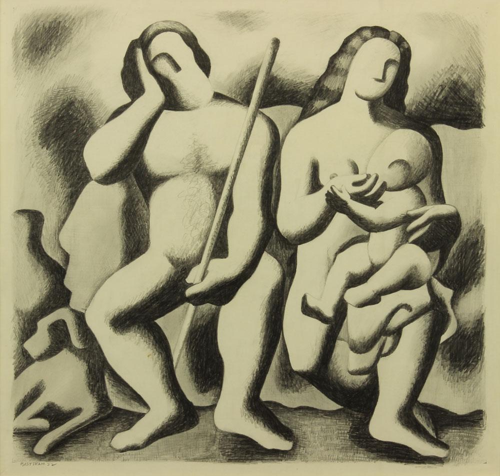 Bisttram-Emil---The-Family-1932-unframed