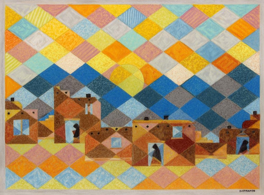 Bisttram-Emil---Untitled-Adobes-unframed