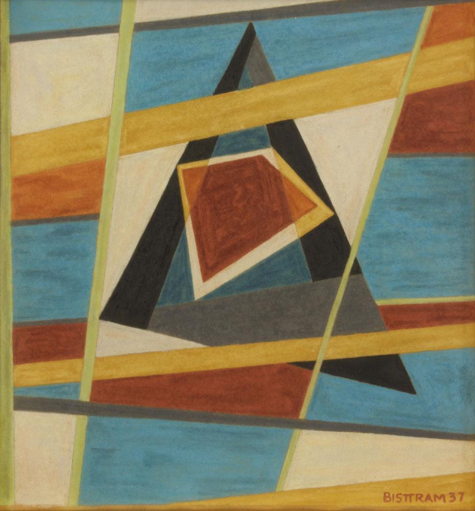 Bisttram-Emil---Untitled-Encaustic-1937-unframed