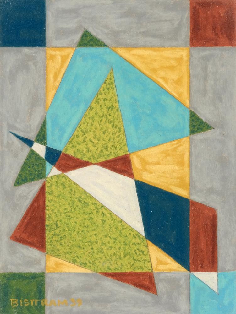 Bisttram-Emil-Untitled-Encaustic-1939-Yellow-Rectangle