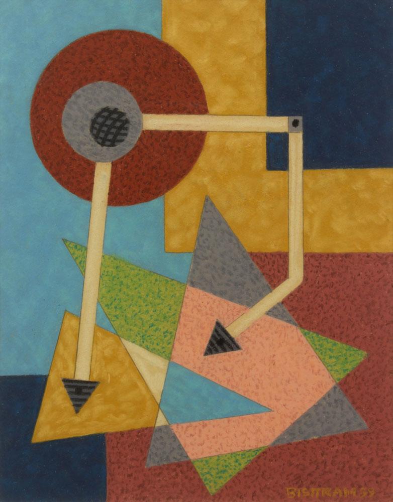 Bisttram-Emil---Untitled-Encaustic-1939-unframed
