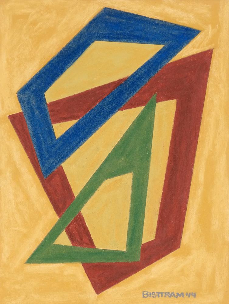 Bisttram-Emil-Untitled-Encaustic-1944-floating-angular-loops