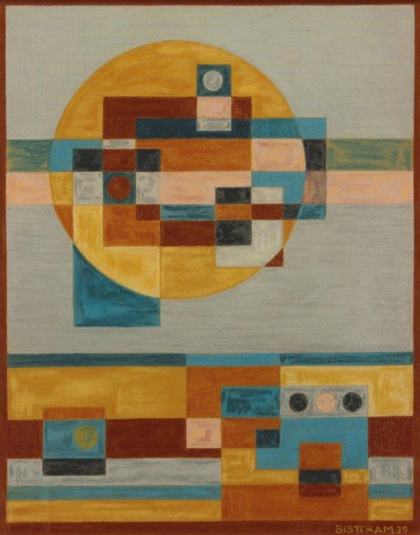 Bisttram-Emil---Untitled-Indian-Symbols-Abstraction
