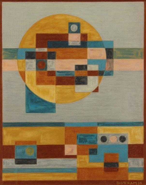 Bisttram-Emil---Untitled-Indian-Symbols-Abstraction