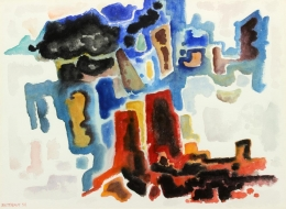 Bisttram-Emil---Abstract-Canyon-1958-unframed