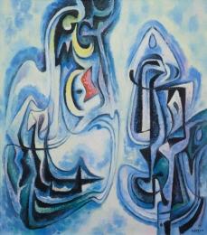 Bisttram-Emil---Figurants-1954-unframed