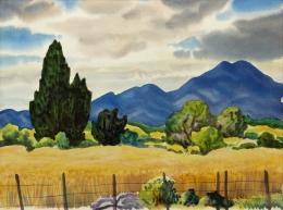 Bisttram-Emil---New-Mexico-Landscape-1944-unframed