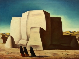 Bisttram-Emil---Ranchos-Church-1938-unframed-edit