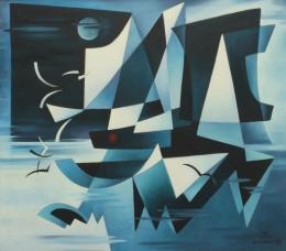 Bisttram-Emil---Sails-in-the-Night-1965-unframed