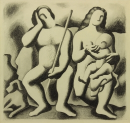 Bisttram-Emil---The-Family-1932-unframed