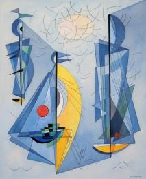 Bisttram-Emil---Untitled-Abstract-Boats-unframed-edit