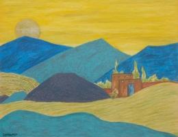 Bisttram-Emil---Untitled-Encaustic-lndscp-2-1937-unframed