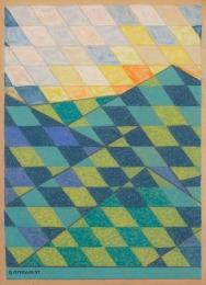 Bisttram Emil - Untitled Encaustic lndscp 4 1937 unframed