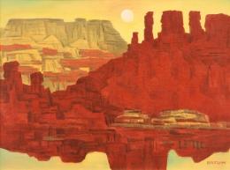 Bisttram Emil - Untitled Landscape unframed