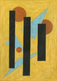 Bisttram-Emil---Untitled-enc-1940---3-bk-lines-unframed