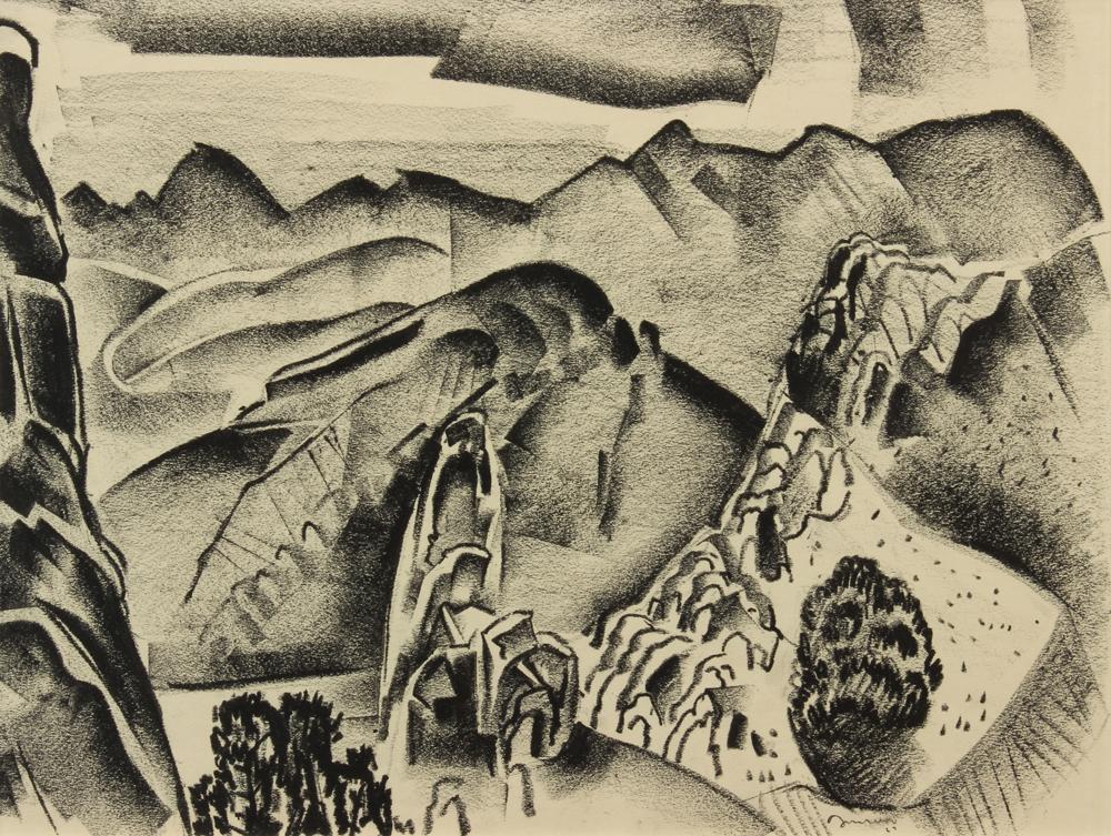 Jonson-Raymond---NM-Landscape-1927-unframed