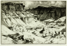 Kloss-Gene---Gunnison-River-Cliffs-1967-unframed-edit