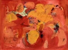 Mandelman-Beatrice---red-feathers-unframed