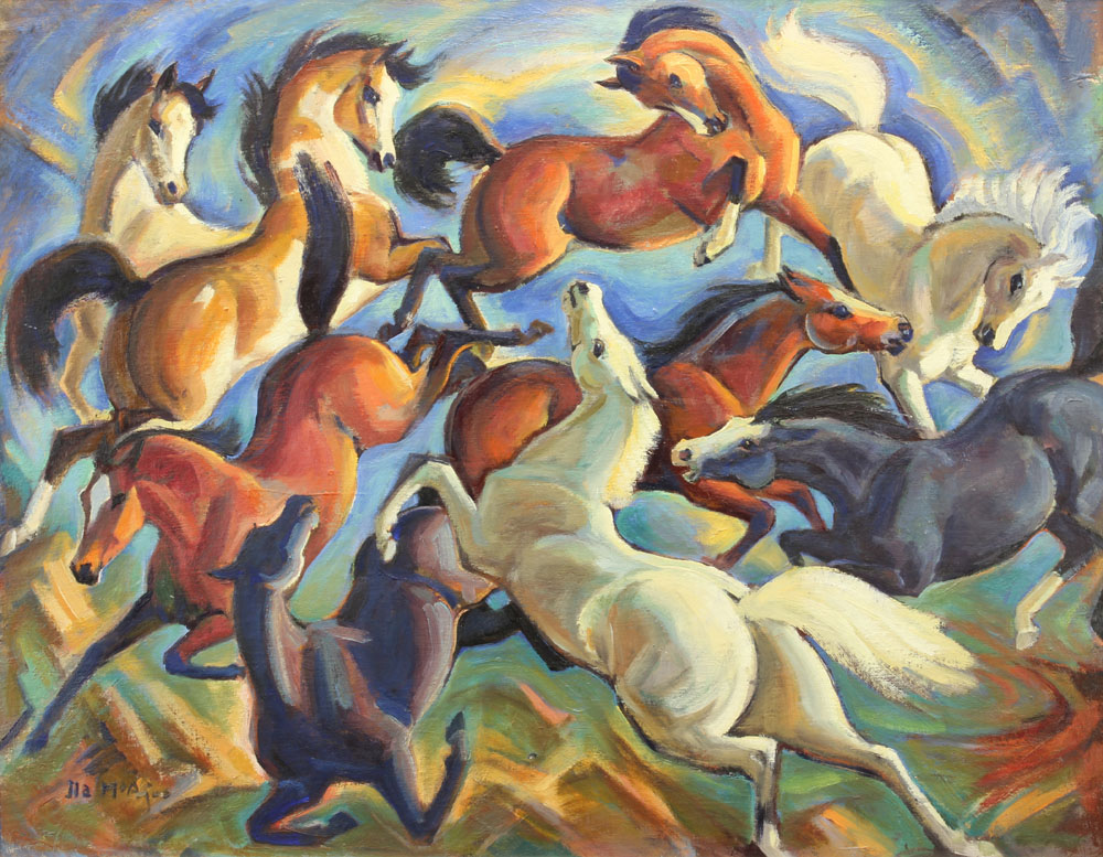 McAfee Ila - Untitled Horses unframed