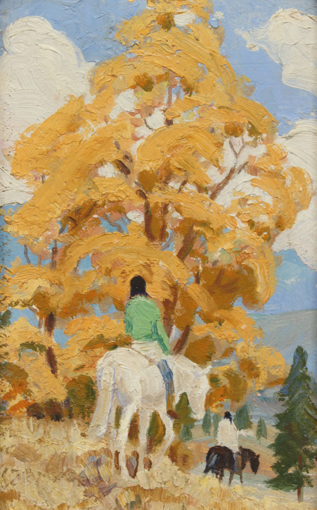 McAfee-Ila---Untitled-Horses-with-Riders-unframed
