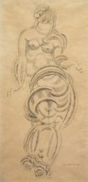 Nadelman-Elie---Standing-Draped-Female-Figure-1905-unframed