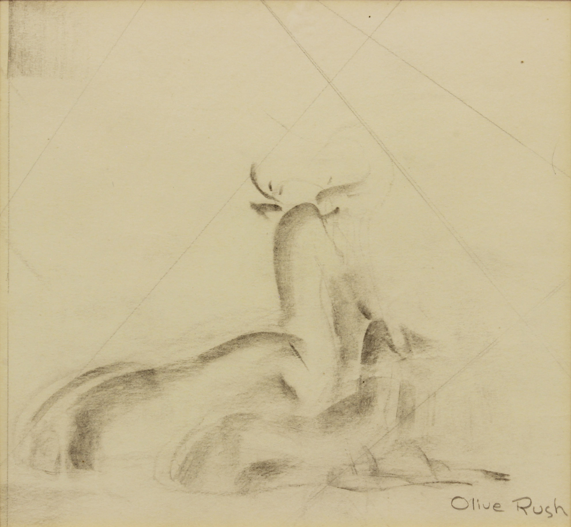Rush-Olive---Untitled-Deer-2-unframed