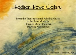 From the Transcendental Painting Group to the Taos Moderns: Florence Miller Pierce and Beatrice Mandelman